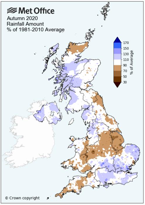 Autumn 2020 rainfall